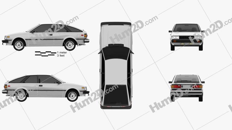 Nissan Sentra 1983 car clipart