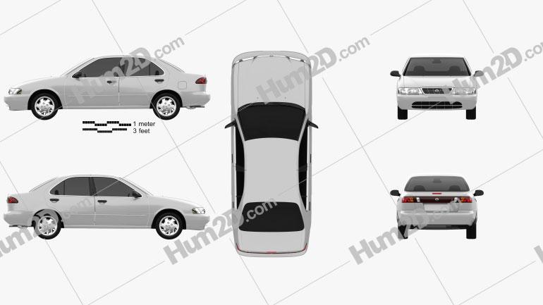 Nissan Sentra 1995 car clipart