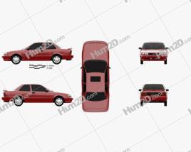 Nissan Sentra SE-R coupe 1990 car clipart