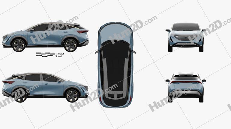 Nissan Ariya 2019 Clipart Image