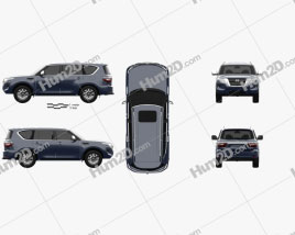 Nissan Patrol Ti 2020 car clipart