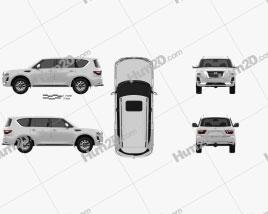 Nissan Patrol Ti L 2020 car clipart