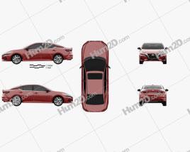 Nissan Sentra SL 2020 car clipart