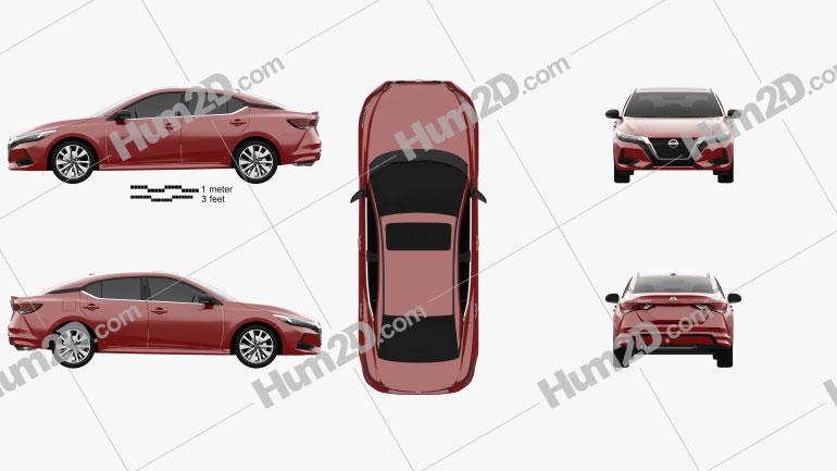 Nissan Sentra SL 2020 Clipart Image
