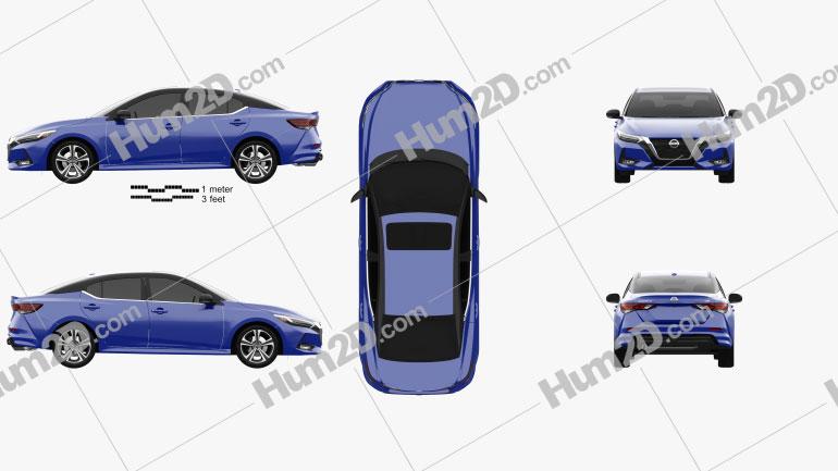 Nissan Sentra SR 2020 car clipart
