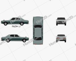 Nissan Cedric sedan 1975 car clipart
