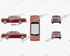 Nissan Cedric 1500 Deluxe sedan 1960 car clipart