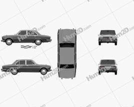 Nissan Cedric Deluxe sedan 1966 car clipart