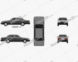 Nissan Cedric Brougham sedan 1987 car clipart