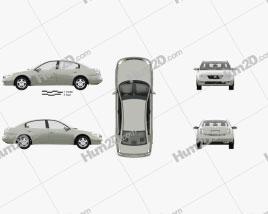 Nissan Altima S mit HD Innenraum 2002 car clipart