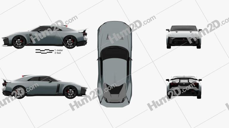 Nissan GT-R50 2019 car clipart