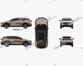 Nissan Ariya e-4orce 2020 car clipart