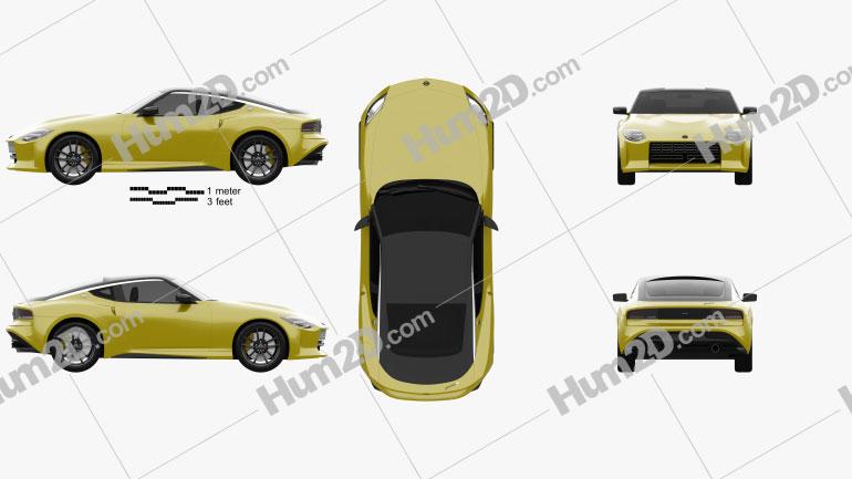 Nissan Z Proto 2020 car clipart