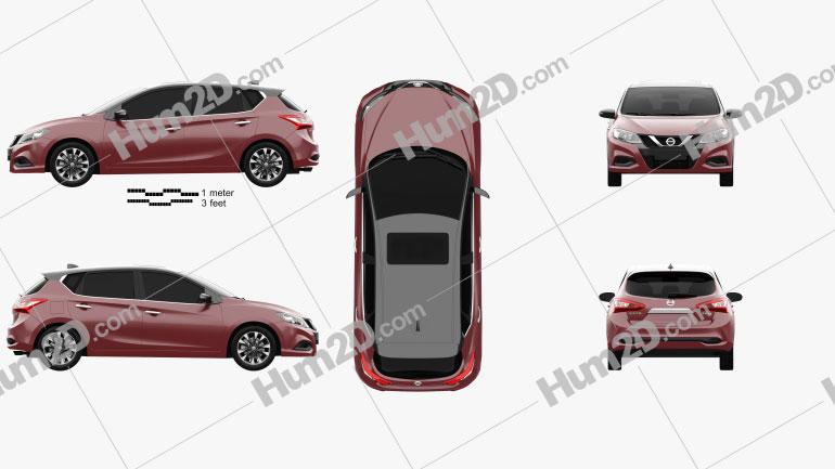 Nissan Tiida 2021 car clipart
