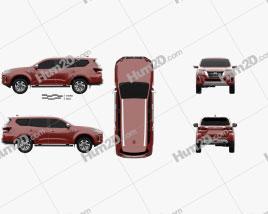 Nissan XTerra Platinum 2020 car clipart
