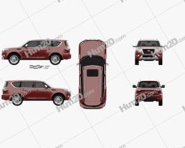 Nissan Armada 2021 car clipart