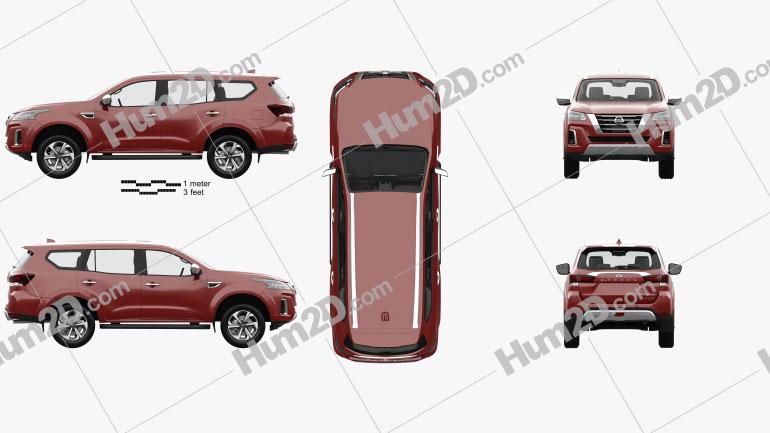 Nissan X-Terra Platinum com interior HQ 2020 car clipart
