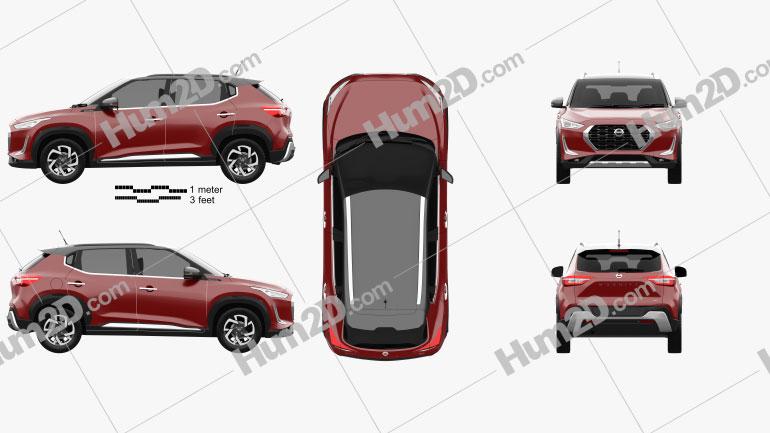 Nissan Magnite 2021 car clipart
