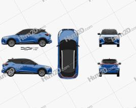 Nissan Kicks SR US-spec 2021 car clipart