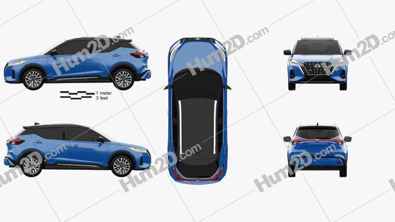 Nissan Kicks SR US-spec 2021 Clipart Image