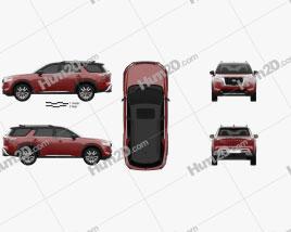 Nissan Pathfinder Platinum 2022 car clipart