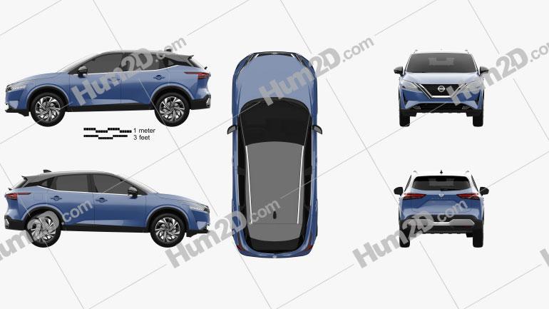 Nissan Qashqai 2021 car clipart
