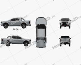 Nissan Navara Double Cab PRO 4X 2020 car clipart