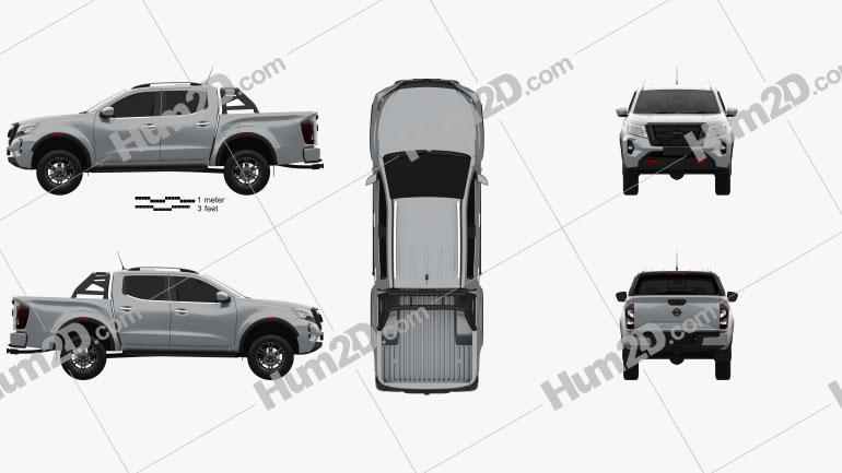 Nissan Navara Cabina dupla PRO 4X 2020 car clipart