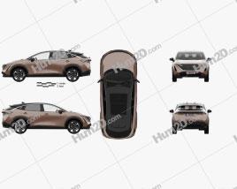 Nissan Ariya e-4orce JP-spec mit HD Innenraum 2020 car clipart