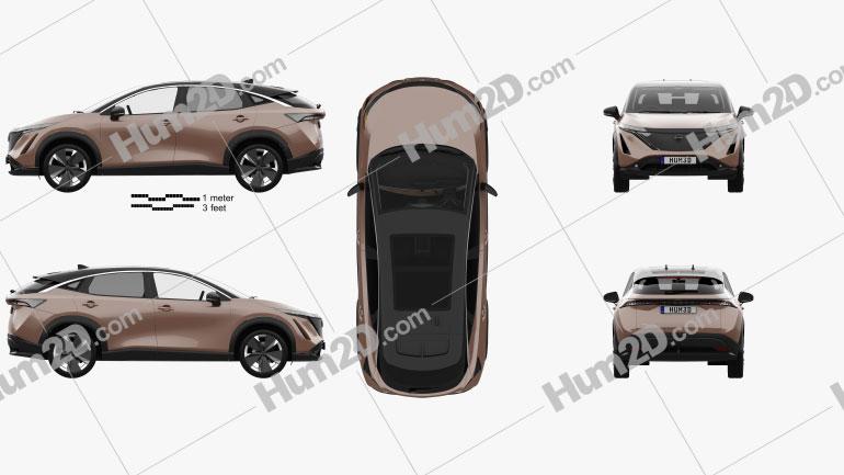 Nissan Ariya e-4orce JP-spec com interior HQ 2020 car clipart