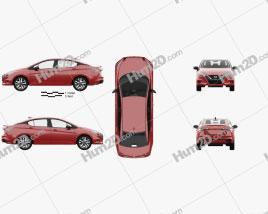 Nissan Versa SR sedan with HQ interior 2020 car clipart