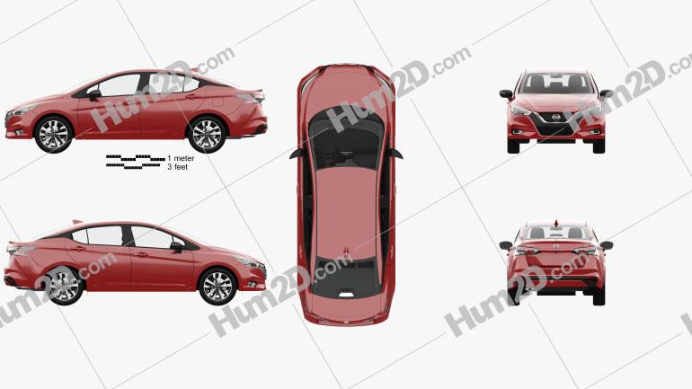 Nissan Versa SR sedan com interior HQ 2020 car clipart