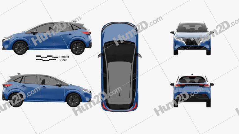 Nissan Note e-Power 2020 car clipart