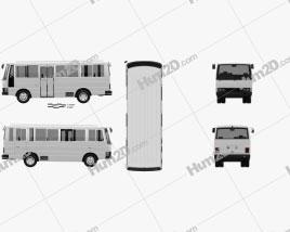 Nissan Civilian Bus 1984 clipart