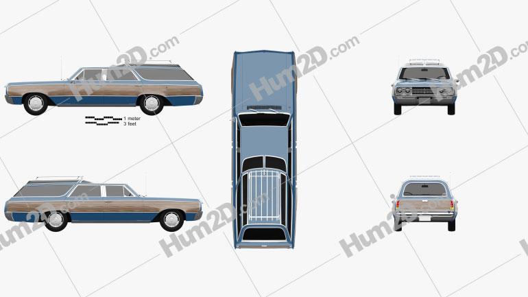 Oldsmobile Vista Cruiser 1964 car clipart