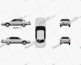 Oldsmobile 98 1991 Clipart