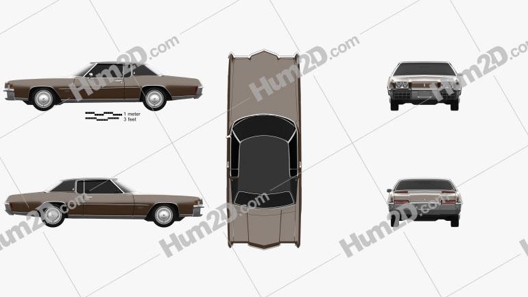 Oldsmobile Toronado (Y57) 1972 car clipart