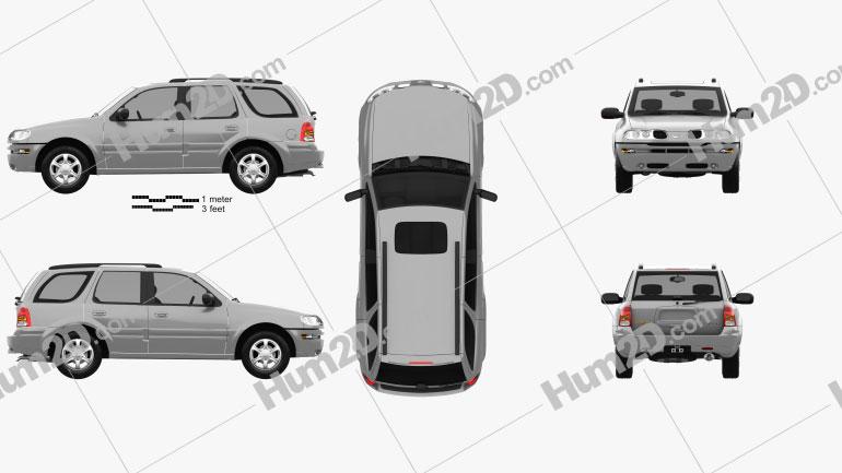 Oldsmobile Bravada 2002 car clipart