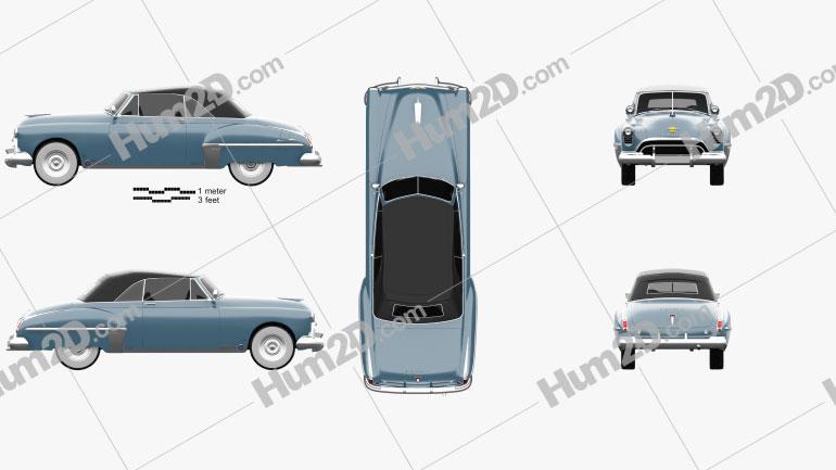 Oldsmobile 88 Futuramic Convertible 1949 car clipart