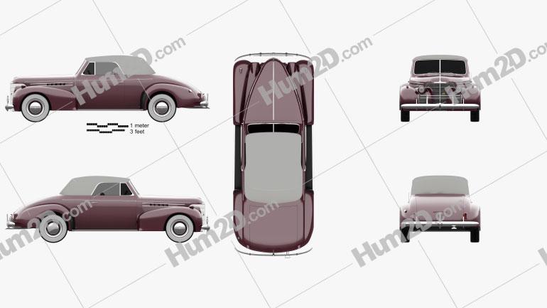 Oldsmobile 80 Cabrio 1939 car clipart
