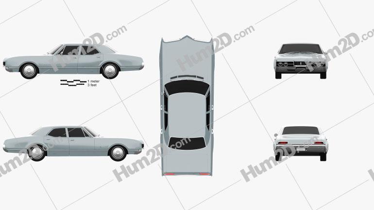 Oldsmobile 88 Delmont sedan 1967 car clipart