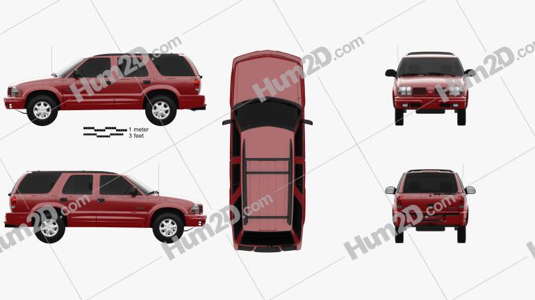 Oldsmobile Bravada 1998 car clipart