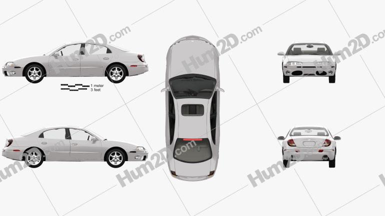 Oldsmobile Aurora with HQ interior 1999 Clipart Image