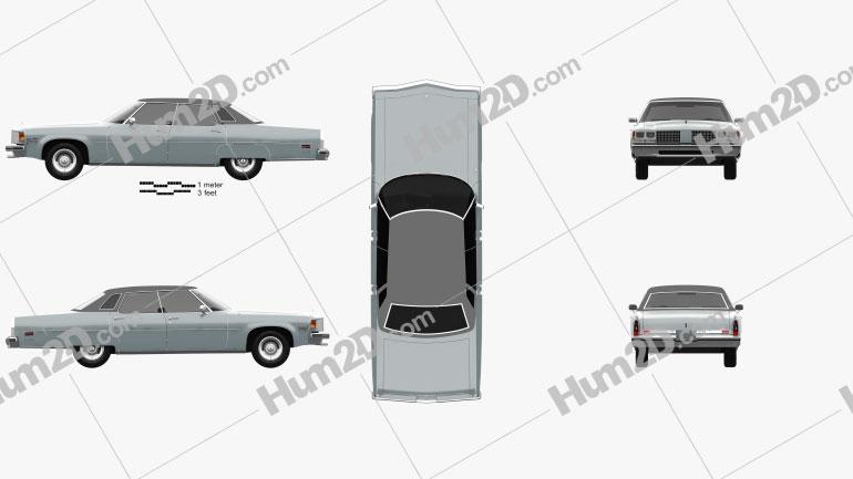 Oldsmobile 98 Regency 1976 Clipart Image