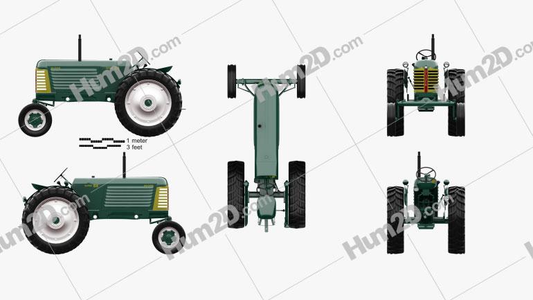 Oliver Super 88 1958 Traktor clipart