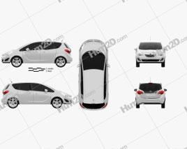 Opel Meriva B 2011 car clipart