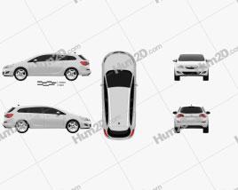 Opel Astra J Tourer 2011 car clipart