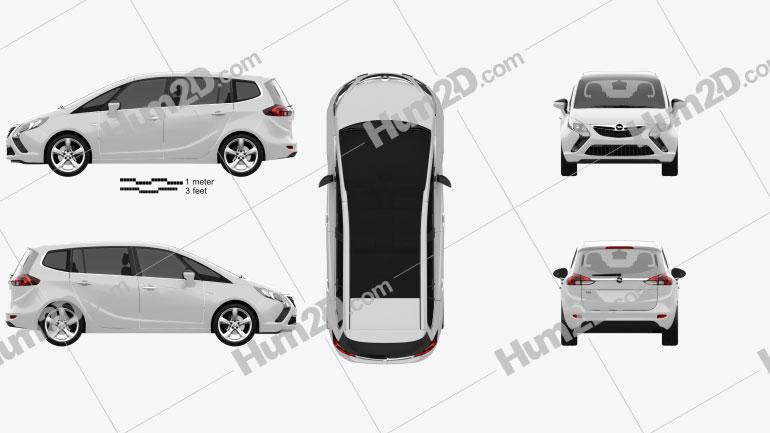 Opel Zafira Tourer 2012 clipart