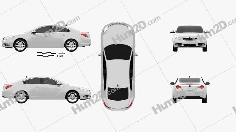 Opel Insignia Sedan 2009 car clipart
