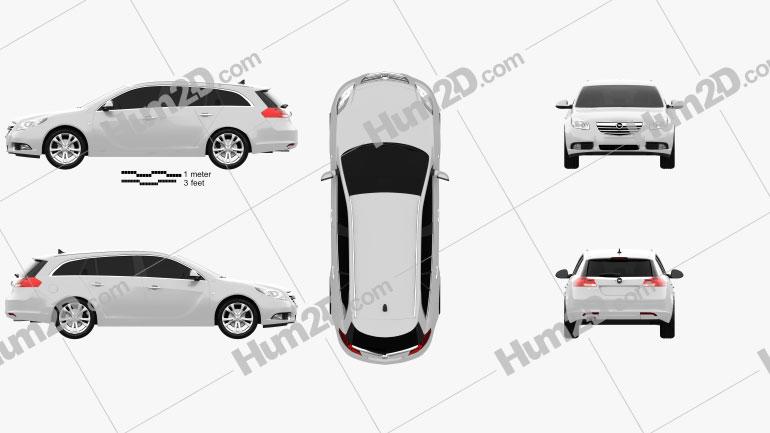 Opel Insignia Sports Tourer 2009 car clipart